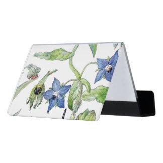 Botanical Vintage Borage Flowers Card Holder
