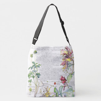 Botanical Vintage Honeysuckle Flowers Tote Bag