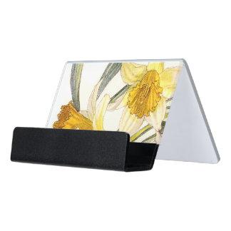 Botanical Vintage Narcissus Flowers Card Holder
