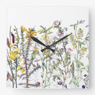 Botanical Wildflower Flowers Meadow Wall Clock