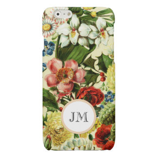 Botanical wildflower summer garden monogram