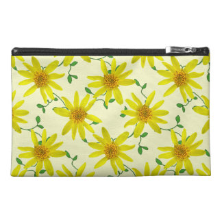 Botanical Yellow Arnica Wildflower on any Colour Travel Accessory Bag