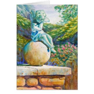 Botantical Garden Angle Greeting Card