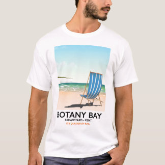 Botany Bay Broadstairs Kent beach holiday poster T-Shirt