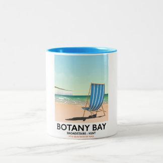 Botany Bay, Broadstairs Kent beach travel poster Two-Tone Coffee Mug
