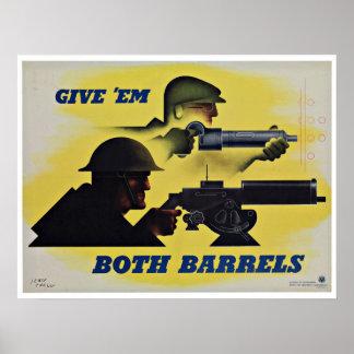 Both Barrels - Vintage Patriotism Print