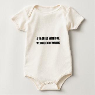 Both Be Wrong Baby Bodysuit