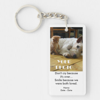 Both Loved Pet Memorial Keychain