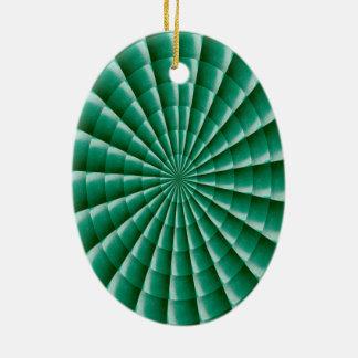 Both side printed GREEN Wheel Chakra Ornaments