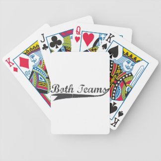 Both Teams Bicycle Playing Cards