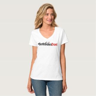 #BothSidesDont - Hanes Nano V-Neck T-Shirt