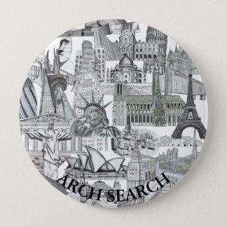 Bóton 10,2cm Mural Arch Search 10 Cm Round Badge