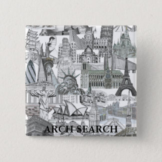 Bóton 5,1cm Mural Arch Search 15 Cm Square Badge