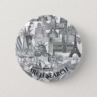 Bóton 5,7cm Mural Arch Search 6 Cm Round Badge