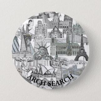 Bóton 7,6cm Mural Arch Search 7.5 Cm Round Badge