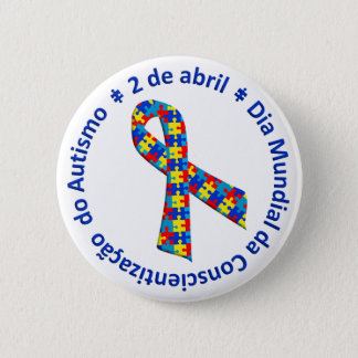 Bóton Awareness of the Autismo 6 Cm Round Badge