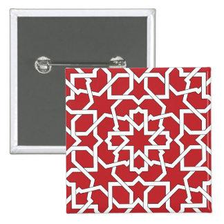 Botón mod Alhambra Arabesco de Marruecos Pins