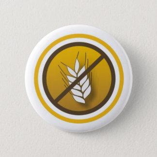 Boton Símbolo Sem Glúten 6 Cm Round Badge