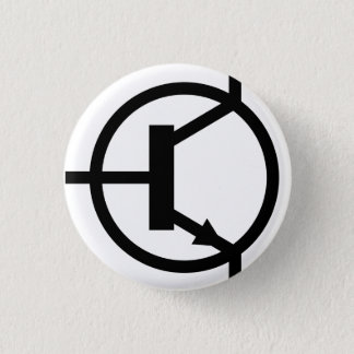 Boton Transistor NPN 3 Cm Round Badge