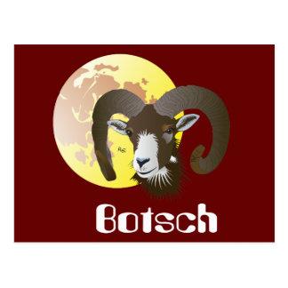 Botsch 21 Mars fin 20 avrigl Cartulina Postcard