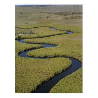 Botswana, Africa. Arial view Okavango river. Postcard