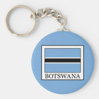 Botswana Basic Round Button Key Ring