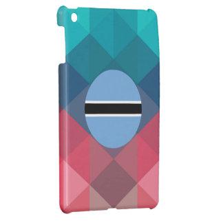 Botswana flag circle on modern bokeh case for the iPad mini