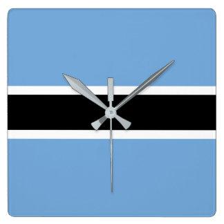 Botswana Flag Clock