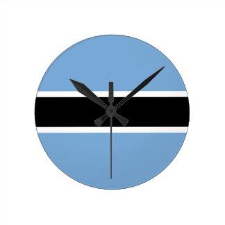 Botswana flag clocks