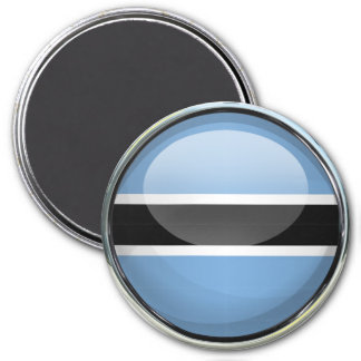 Botswana Flag Glass Ball 7.5 Cm Round Magnet