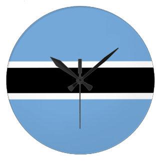 Botswana Flag Large Clock