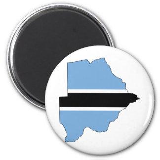 Botswana Flag map BW Magnet