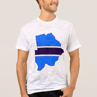 Botswana flag map T-Shirt