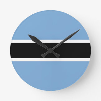 Botswana flag round clock
