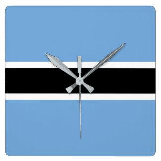 Botswana Flag Square Wall Clock