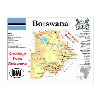Botswana map Postcard