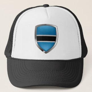 Botswana Mettalic Emblem Trucker Hat