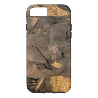Botswana, Moremi Game Reserve, Elephant herd iPhone 7 Case