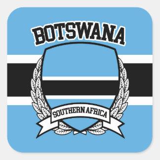 Botswana Square Sticker