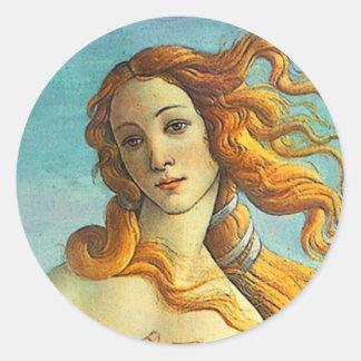Botticelli Birth of Venus Classic Round Sticker