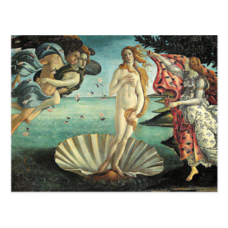botticelli birth of venus postcard