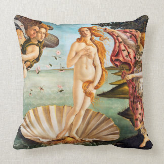 Botticelli Birth of Venus Restored and Recolored Cushion