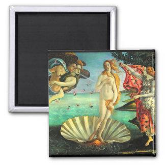 Botticelli Birth of Venus Square Magnet