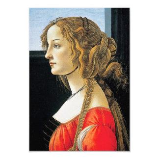 Botticelli Portrait of a Young Woman Invitations