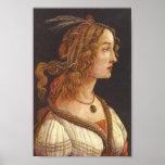 Botticelli-Portrait of young Simonetta Vespucci Print
