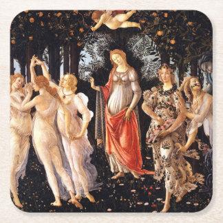 BOTTICELLI -Primavera 1482 Square Paper Coaster