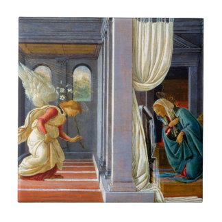 Botticelli The Annunciation Small Square Tile