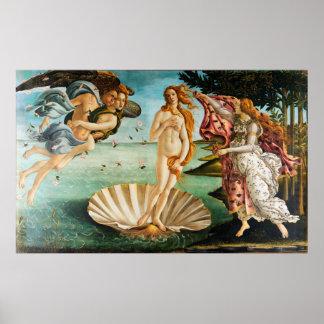 BOTTICELLI - The birth of Venus 1483 Poster