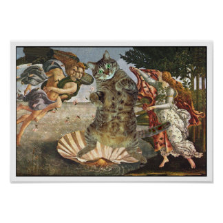 Botticelli's cat poster