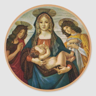 Botticelli's Madonna And Child Classic Round Sticker
